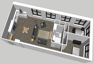 Beach Building 207 2-Bedroom Unit